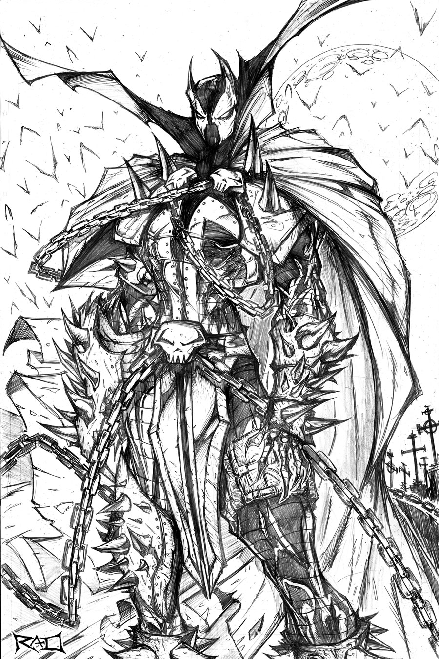 Spawn wip 05 done by robduenas on deviantart for Spawn coloring pages