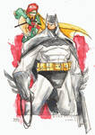 Watercolor - Batman and Carrie