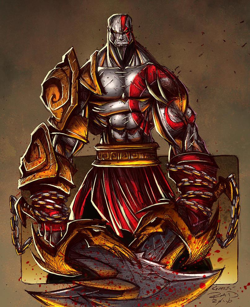 Kratos Sketch - Colored by RobDuenas