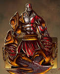 Kratos Sketch - Colored
