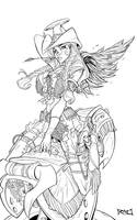 Cow Girl Cover wip 01 by RobDuenas
