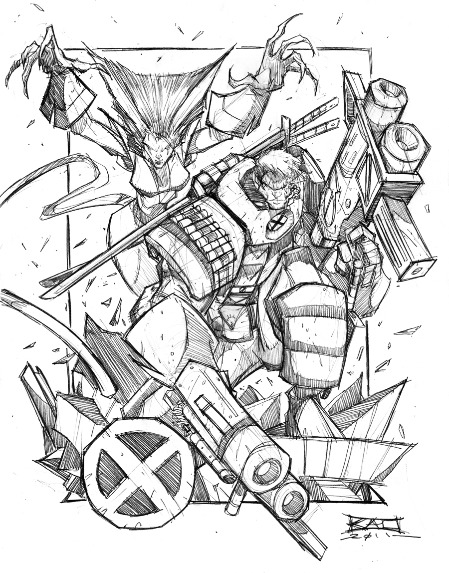 Commish Sketch 48 CABLE by RobDuenas