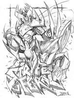 Commish Sketch 50 STRYFE by RobDuenas