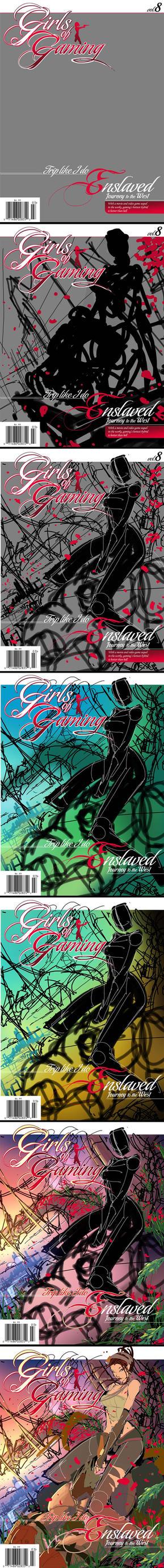Enslaved Cover  WIP 01 by RobDuenas
