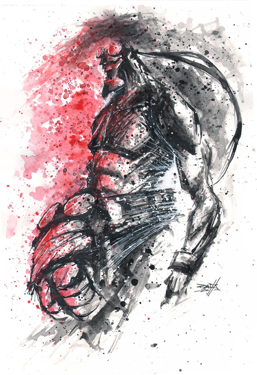 Commish 69 Hellboy Noir by RobDuenas