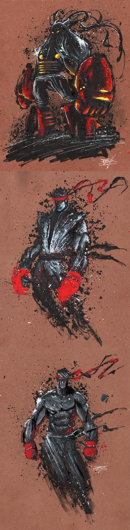 ART 4 PHUN: INK  GOUACHE 02 by RobDuenas