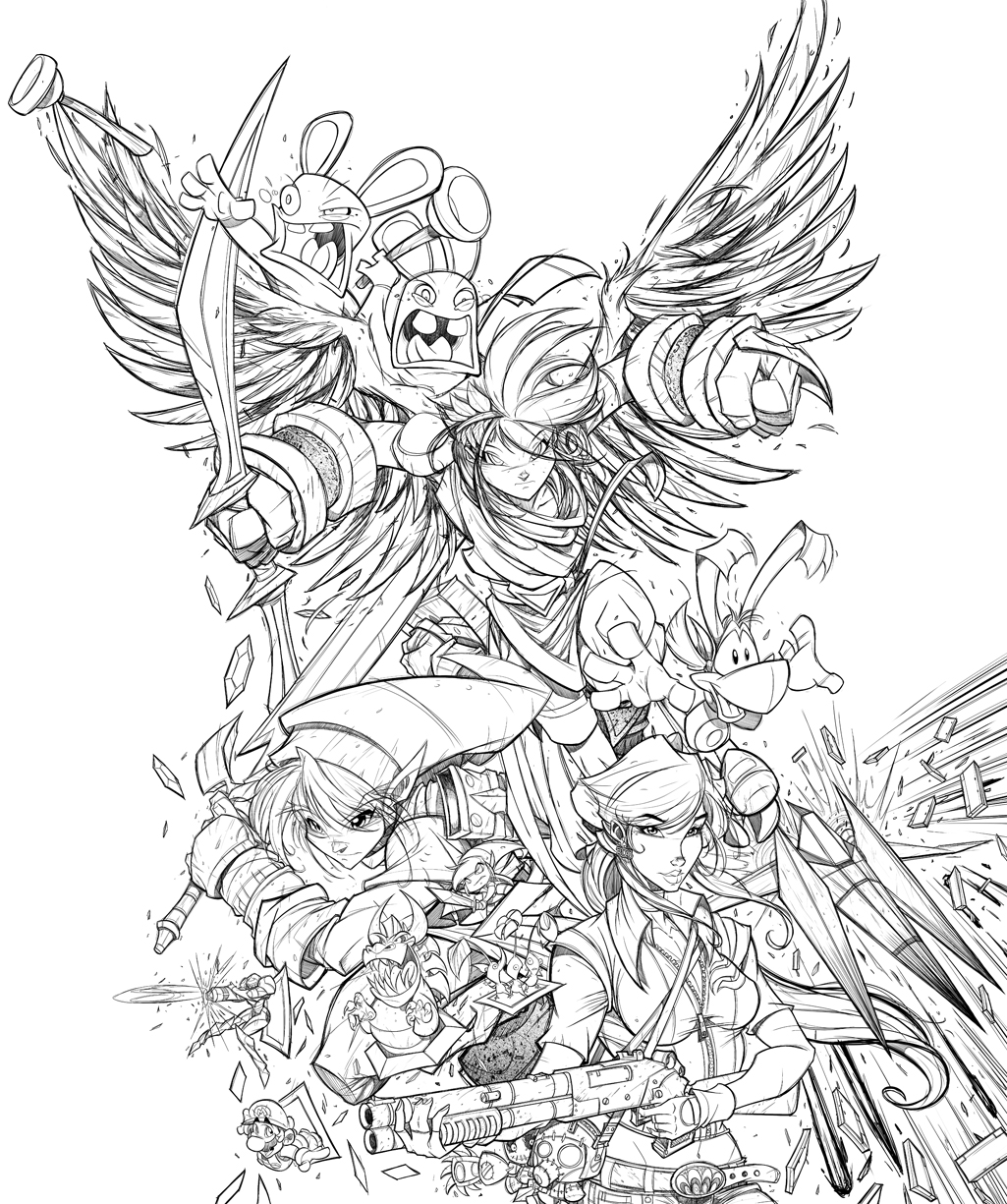 GameFan Issue 06 Cover WIP 04 by RobDuenas