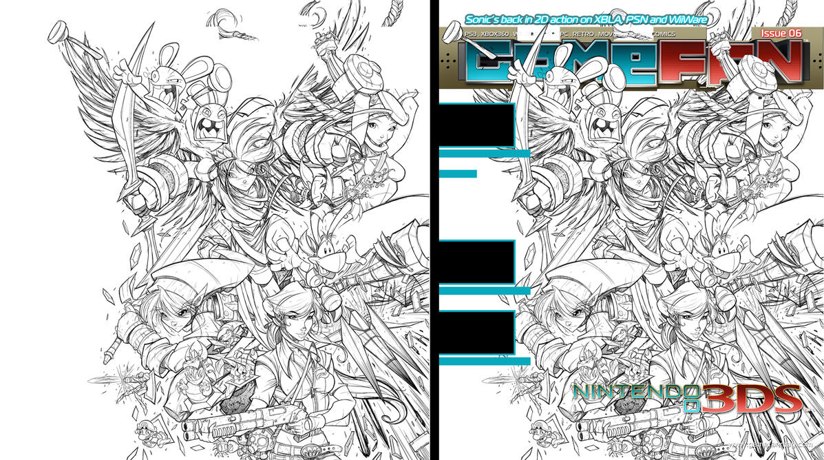 GameFan Issue 06 Cover WIP 05 by RobDuenas