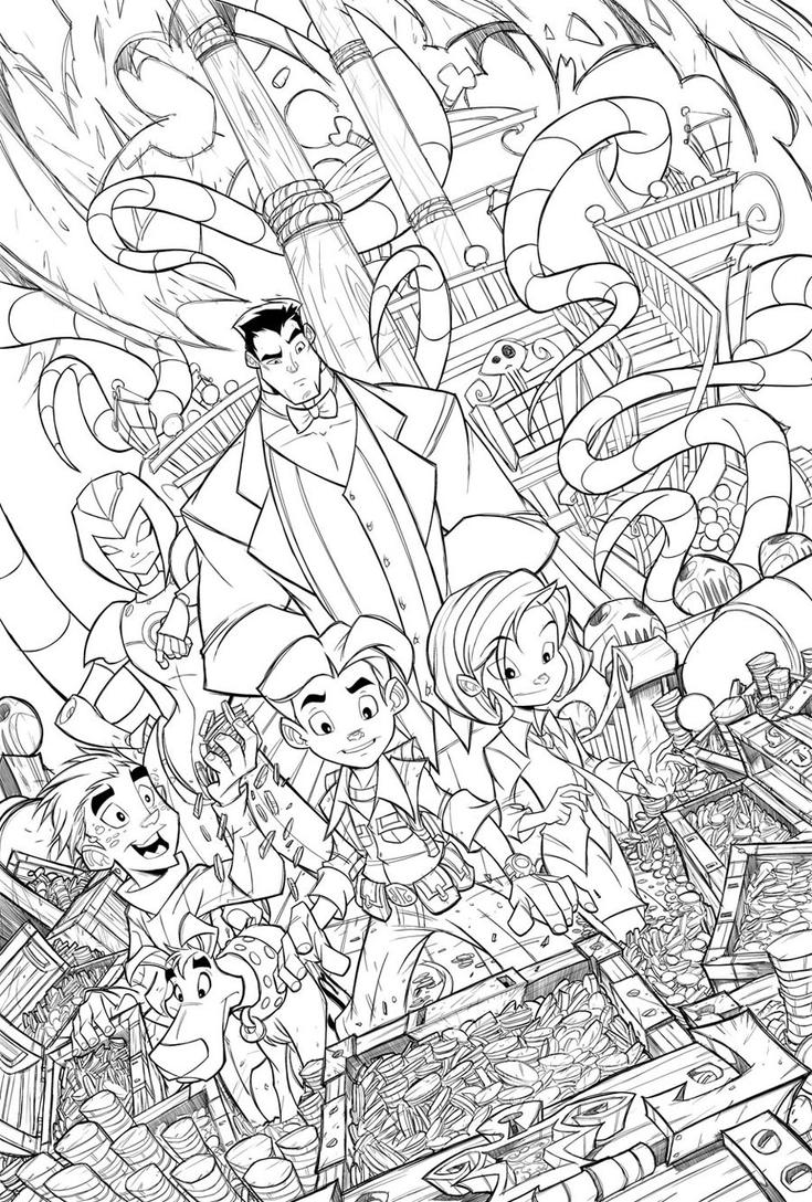 Richie Rich Cover 01 Lines by RobDuenas