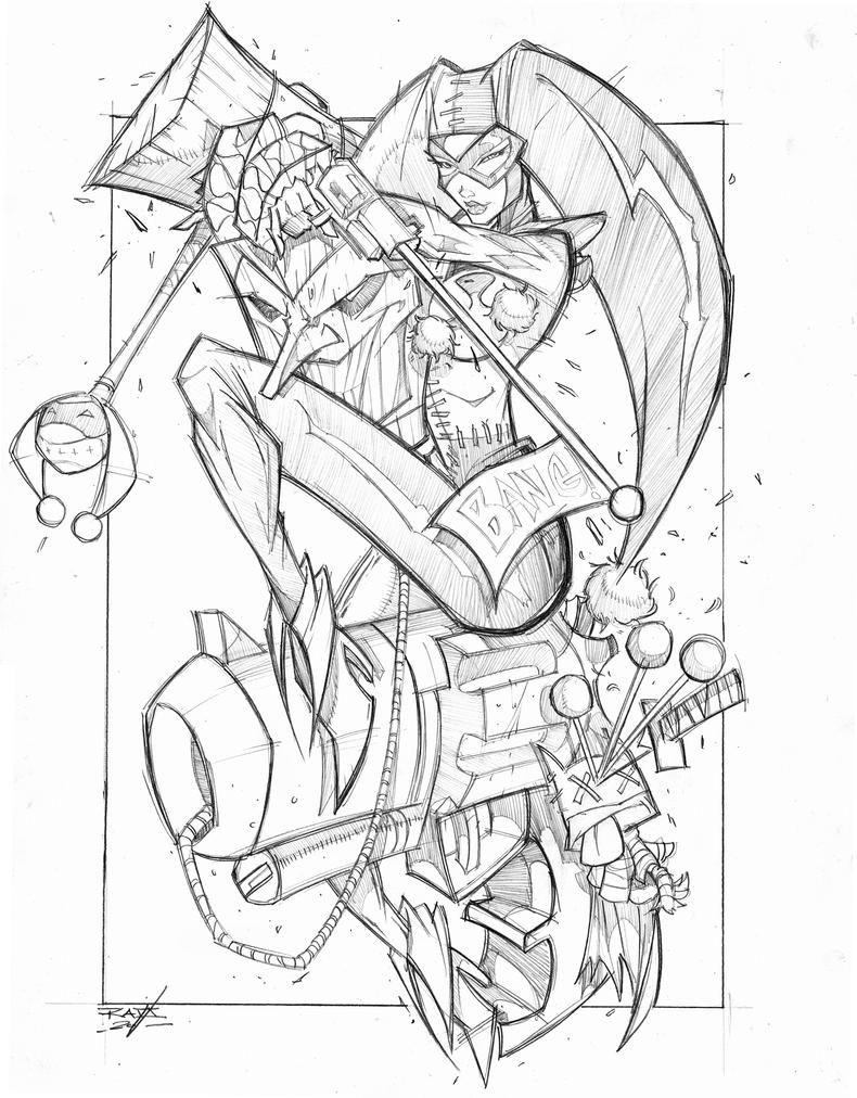Line Art Harley Quinn : Commish harley quinn by robduenas on deviantart