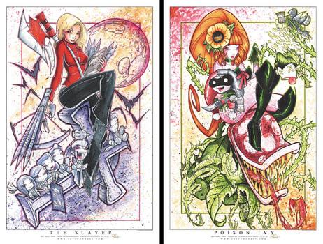 Buffy and Poison Ivy Prints