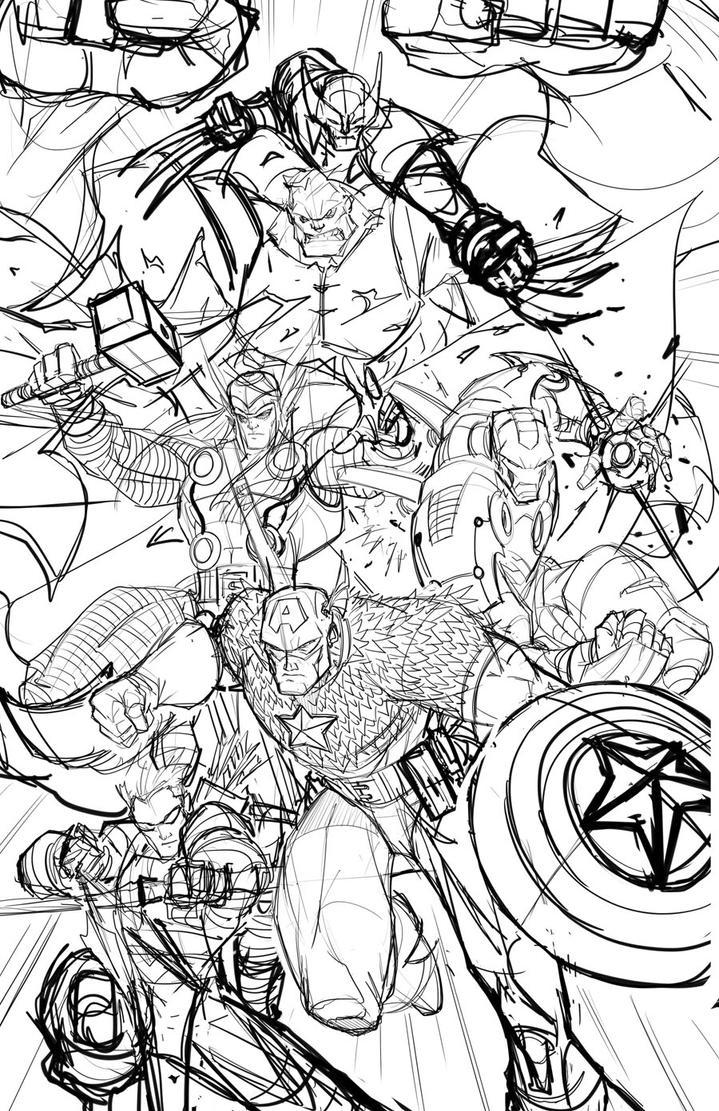 Avengers Shirt WIP 01 by RobDuenas