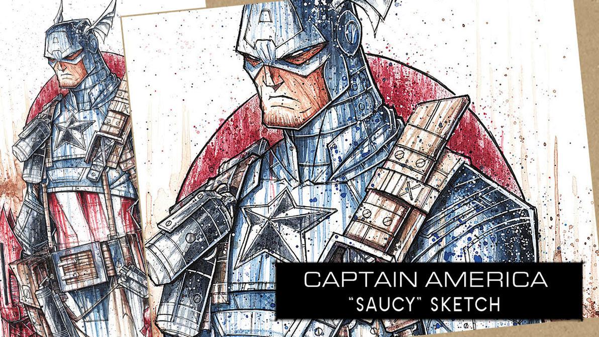 SpeedPaint: Captain America by RobDuenas