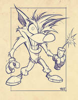 Critter Junkies  01 - Crash Bandicoot Lines by RobDuenas