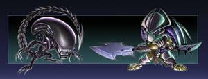 GameCave 05 - Aliens VS Predator chibis