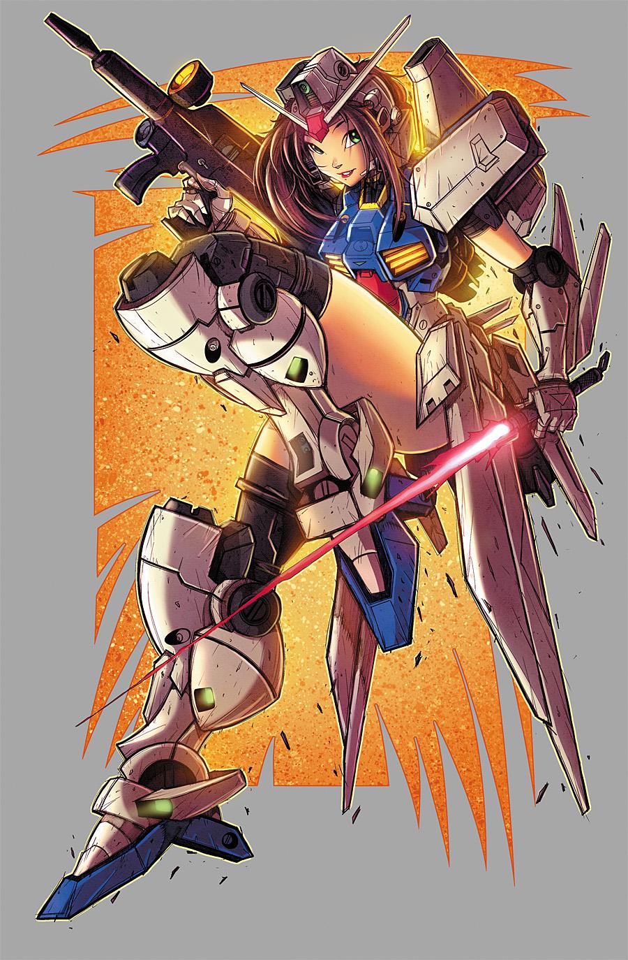 Gundam Girl Color by RobDuenas