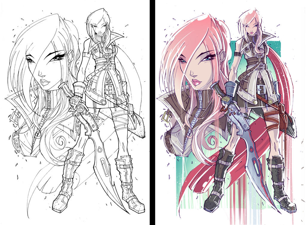 Commish 100 WIP 03 by RobDuenas
