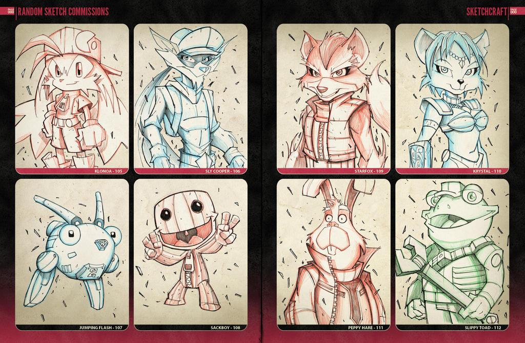 Random Sketchies 105-102 by RobDuenas
