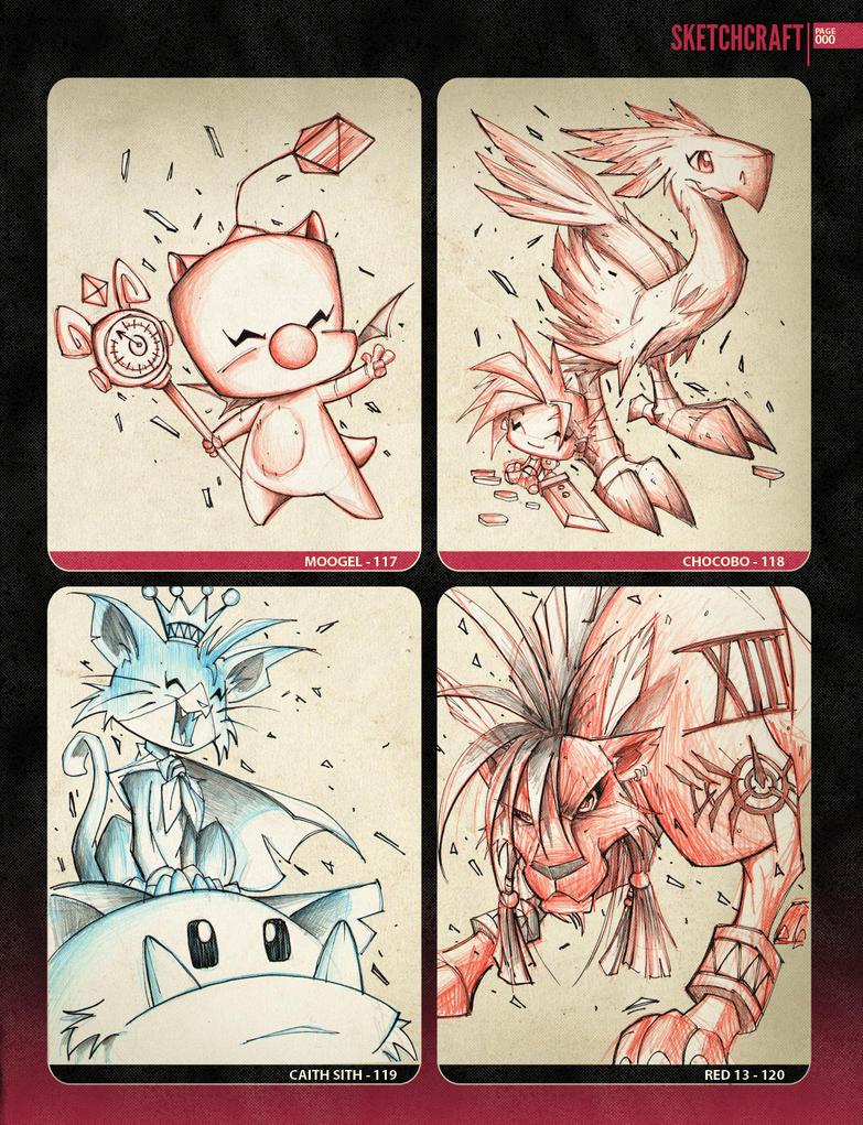 Random Sketchies 117-120 by RobDuenas