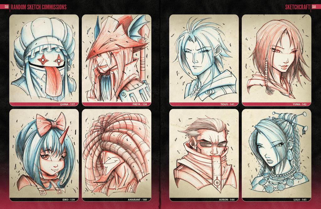 Random Sketchies 137-144 by RobDuenas