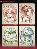 Random Sketchies 153-156 by RobDuenas
