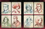 Random Sketchies 161-168 by RobDuenas