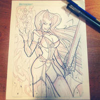 Commish 139 WIP 02 by RobDuenas