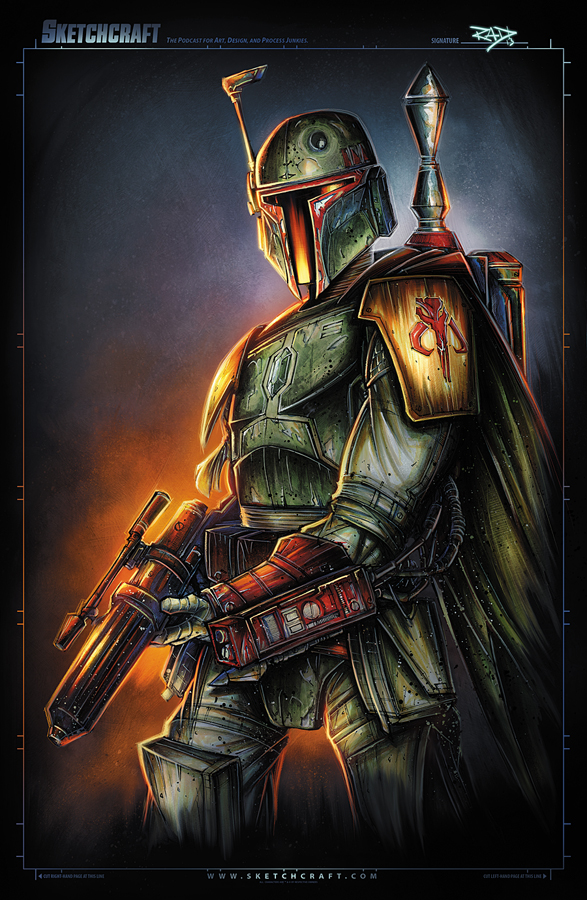 Boba Fett Satin Shot by RobDuenas