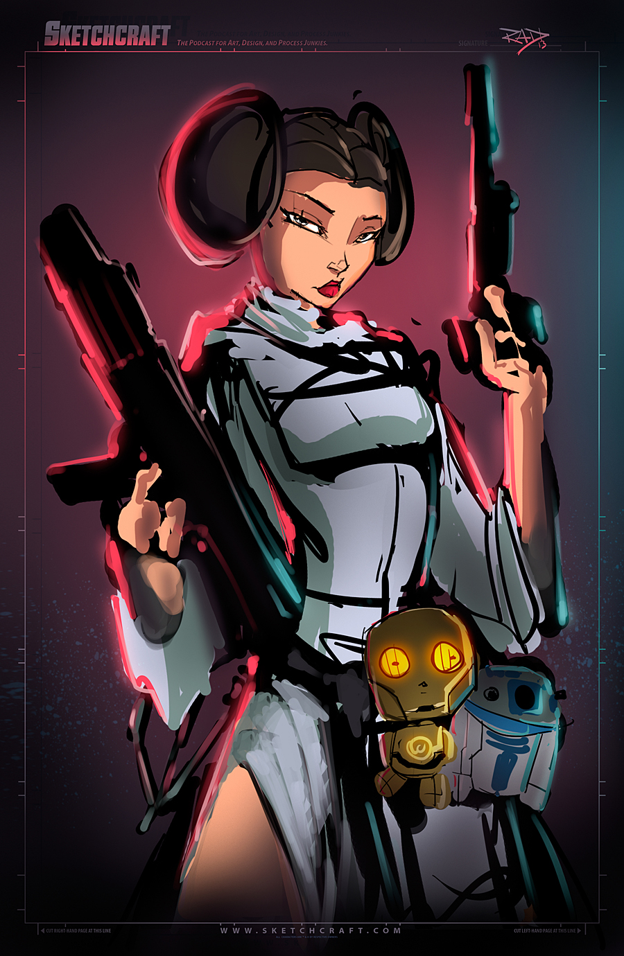 STAR WARS LEIA WIP 01 by RobDuenas