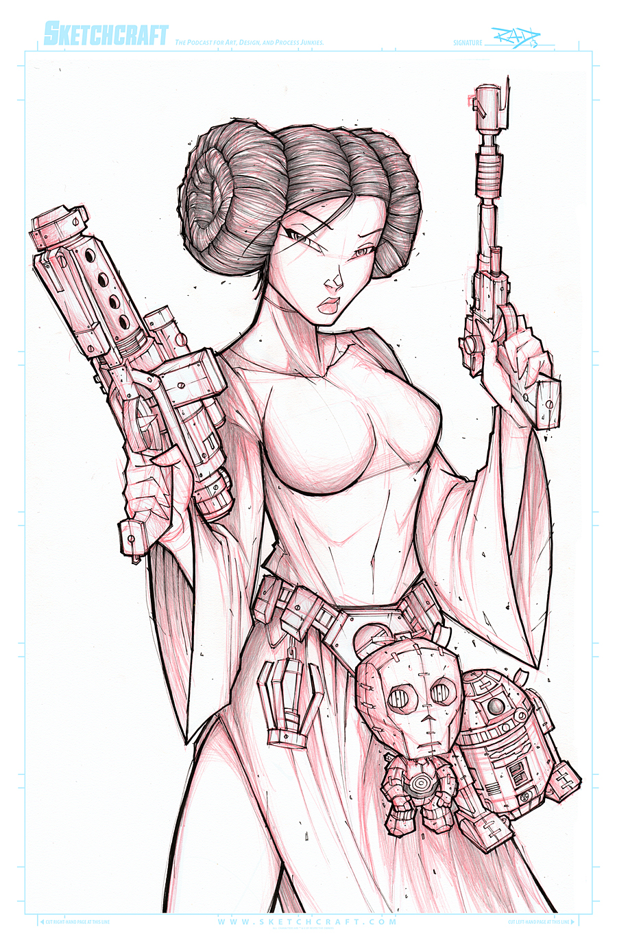 STAR WARS LEIA WIP 02 by RobDuenas