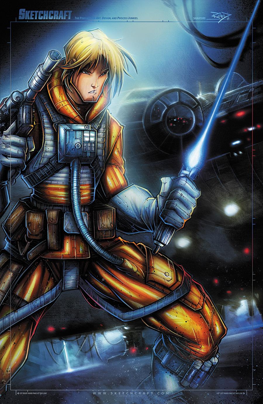 STAR WARS LUKE FIN by RobDuenas