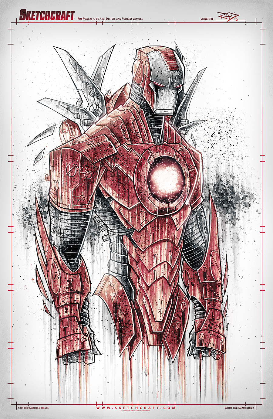 Iron Man Saucy Noir by RobDuenas