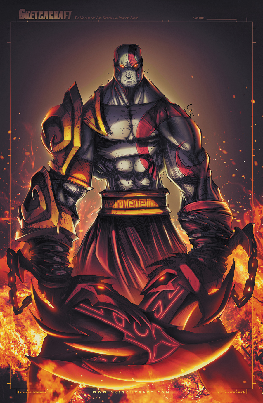 God of War - Kratos by RobDuenas