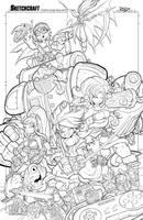 Chrono Trigger Line Art by RobDuenas