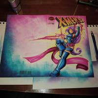 Sketchcover: 90's X-Men Psylocke by RobDuenas