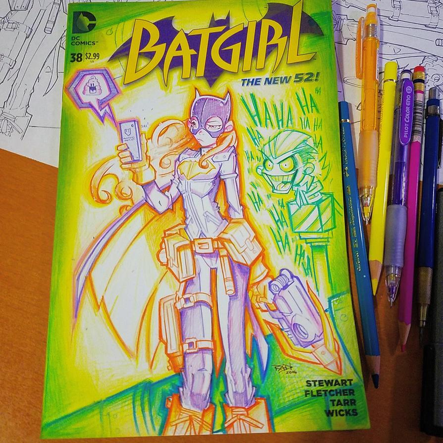 Commision: Batgirl - Copics by RobDuenas