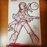 Random Star Wars Sketch - Jyn Erso