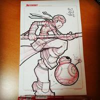 Random Star Wars Sketch - Rey by RobDuenas