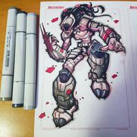 Random Sketch - Predator by RobDuenas