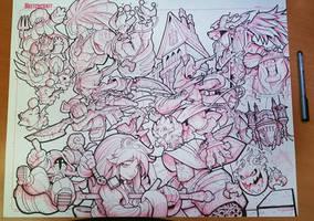Final Fantasy 9 Linearts by RobDuenas