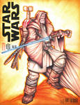 Commision: Old Man Kenobi Star Wars - Color Pencil
