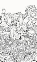 DragonBall Gaming Tribute - Linearts by RobDuenas