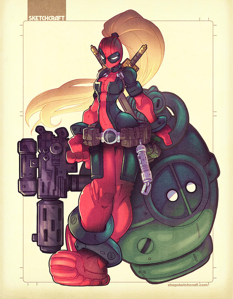 LADY DEADPOOL by RobDuenas