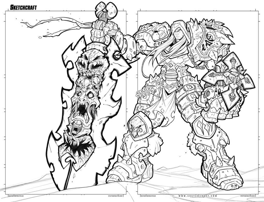 Darksiders War Lineart by RobDuenas