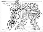 Darksiders War Lineart by RobDuenas