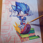 Sonic Hedgehog Commish WIP