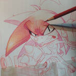 Knuckles Commish WIP by RobDuenas
