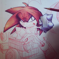 Knuckles Commish WIP 02 by RobDuenas