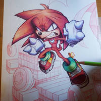 Knuckles Commish WIP 03 by RobDuenas