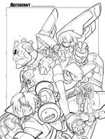 Burning Rangers Tribute - Linearts by RobDuenas